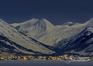 Paradise Divide and Crested Butte by Moonlight