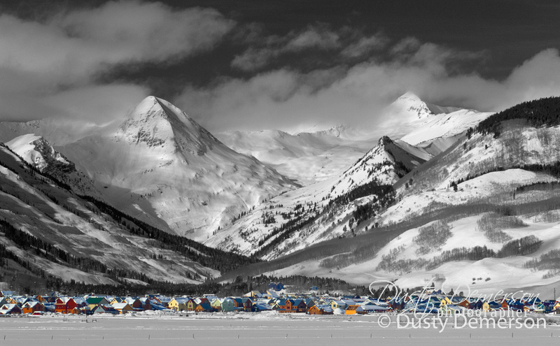hand-tinted Crested Butte Colorado