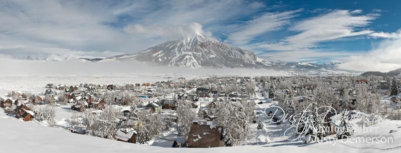 Crested Butte Colorado winter panorama