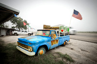 watermelons truck flag blue stand fruit Texas