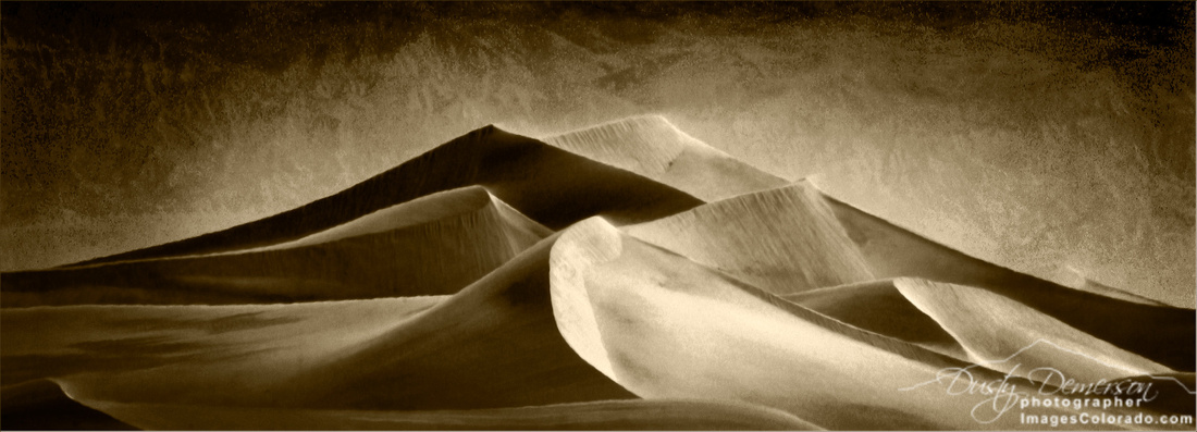 Windy Sand Dunes at Death Valley