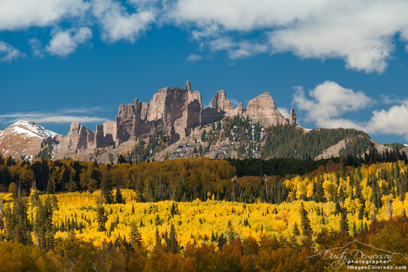 castles formation wilderness fall aspen yellow