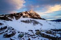 Crested Butte Mountain Resort Winter Sunset
