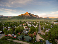 Crested Butte Spring Alpenglow