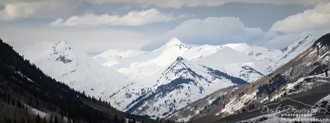 Paradise Divide Winter Panorama