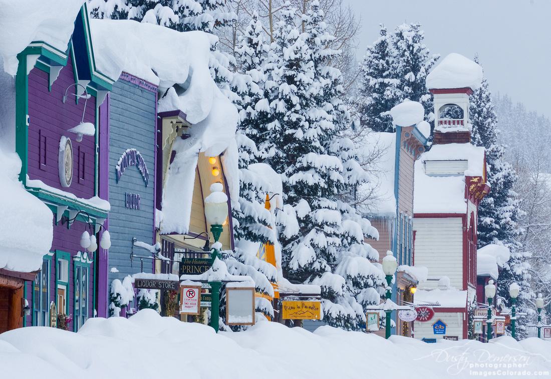 Elk Avenue Snow