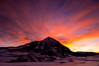 January Sunrise - Crested Butte Mountain