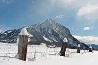 Crested Butte Mountain Winter Morning