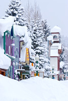photograph of fresh deep snow on downtown crested butte