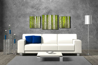 Into the Forest Triptych over sofa 2224-3230-2224