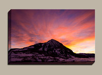 January Sunrise Crested Butte Mountain