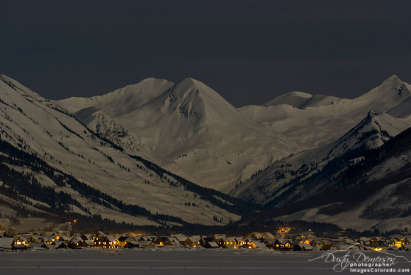 Crested Butte and  Paradise Divide At Night