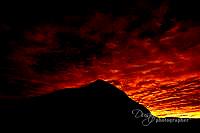 January sunrise Crested Butte Mountain, Colorado