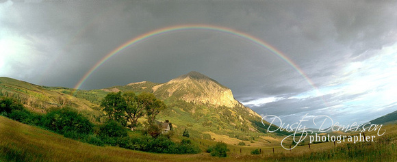 Crested Butte Mountain under the Rainbow