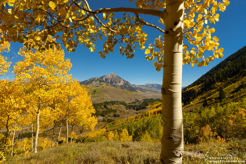 Crested Butte Mountain From Gunsight Pass Road