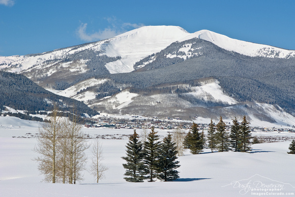 Colorado stock photography- Mount Emmons winter