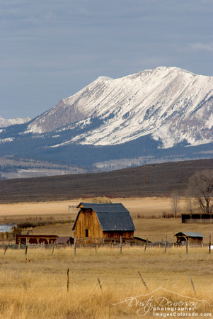 colorado stock photography - anthracite range and barn