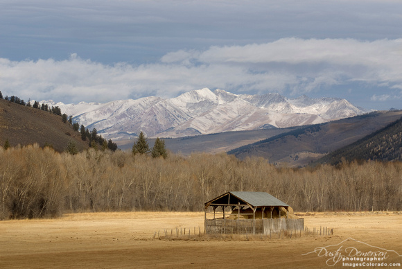 colorado stock photography - east river hay shed