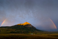 Crested Butte Mountain in Rainbow Brackets