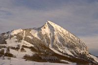 Crested Butte Mountain Winter Sunset